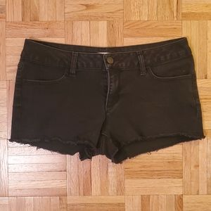 No Boundaries | Black Denim Shorts